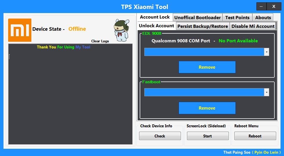 أداة جديدة عملاقة لأجهزة شاومى TPS Xiaomi Tool